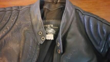 leather jacket australian black motorcycle classic style