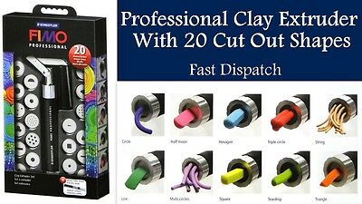 Clay Extruder Tool 22 Piece Set Shapes Cake Sugarcraft Clay Dough & Storage Case