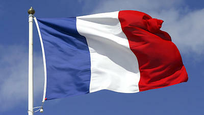 3x5 FT  FRENCH FRANCE (Sewn Stripes) Deluxe SolarMax Nylon Flag MADE IN USA
