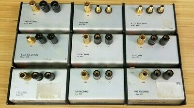 Lot Of 9 Electro Scientific Industries Esi Standard Resistor Sr1 Kilohms