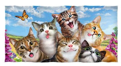 Cats Selfie Cotton Beach Towel Cat Beach Towel