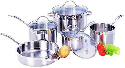 Stainless Steel Cookware Set - 9 Pieces