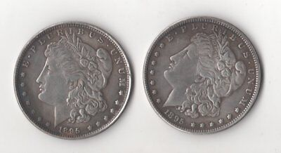 1893//1894 Barber Half Dollar Two Face Magic Trick Coin  Two heads Novelty