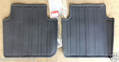 Genuine OEM Honda Accord 4DR Black Rear All Season Floor Mat Set 2003-2007 - Accord Rear Floor Mat