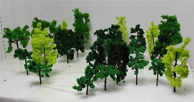 Used, N Gauge-Railroad Scenery-Assorted Model Trees-3 Sizes-3 Colors-18 Pieces Total for sale  Las Vegas
