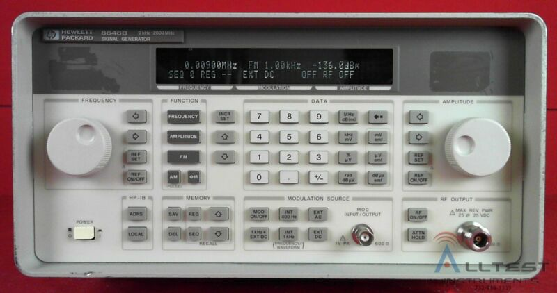 HP - Agilent - Keysight 8648B Synthesized Signal Generator 9 kHz to 2000 MHz