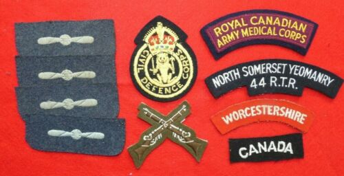 Mixed Lot of Original WWII British and Canadian Insignia