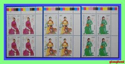 Vietnam Vietnamese Women's costumes Set 3 Block 4 MNH NGAI