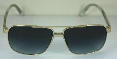 NEW AUTHENTIC VERSACE VE 2174 1252/8G Pale Gold Rectangular Aviator Sunglasses