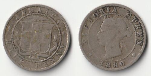 1890 Jamaica half penny coin