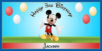 Personalized Mickey Mouse Theme Big Birthday Party Banner Sign Free Shipping (Mickey Mouse Party Theme Decorations)