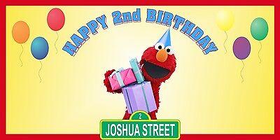 Personalized Sesame Street Elmo Theme Birthday Party Vinyl Banner Free Shipping - Sesame Street Birthday Party Theme