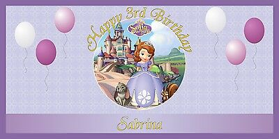 Personalized Princess Sofia the First Themed Birthday Party Banner Free Shipping - Princess Birthday Themes