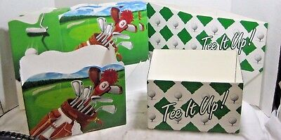 Lot of 13 Box Co Open Top Cardboard Display Gift Boxes Golf Tee Time Theme Party (Golf Themed Party Supplies)
