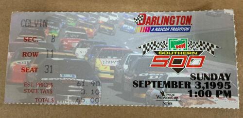 NASCAR 1995 Southern 500 Ticket Stub Jeff Gordon 8th Win - $17.99