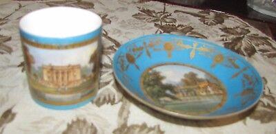 Wow - Serves 1781 Criamon V signed Saucer Le Village de St. Cloud - St Cloud Village