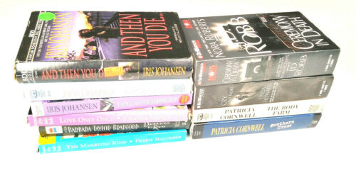 LOT OF 10 AUDIOBOOKS ON CASSETTE [EXCELLENT CONDITION] Romance [LOT 1]