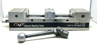 Glacern Gdv-416fe Gmt 4 Double Vise Machine Tool Cnc Milling Workholder