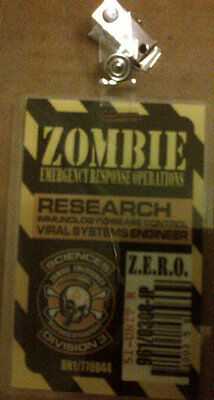 Zombie Hunter Research Viral Systems Engineer Disease Control  I D  Badge 2013