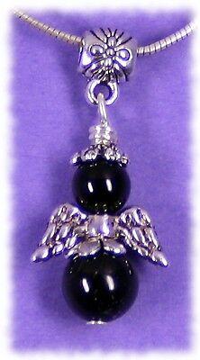 edler Schutzengel mit Schörl - schwarzer Turmalin Engel #6601