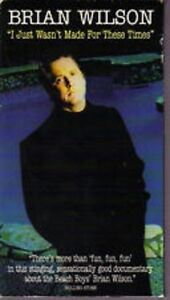 BRIAN WILSON: I JUST WASN'T MADE FOR THESE TIMES (VHS, 1995)