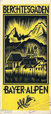 1936 König (Berchtesgaden Prospekt Bayern mit Wohnungskarte Au Scheffau Königssee um 1936)