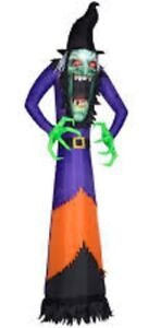 Gemmy Airblown Inflatable Photorealistic Green Witch 12 ft