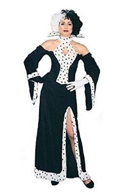 Cruella De Ville Dalmation Dog Lovin Diva Halloween Fancy Dress Size (Dalmation Halloween Kostüme)