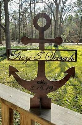 Anchor Custom Party centerpiece, Names and Date,Nautical centerpiece, Custom - Nautical Centerpiece
