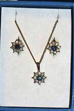 Ladies GOLD &Natural Sapphire with diamond set Blakeview Playford Area Preview