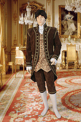 Baroque Costume Men (Baroque Style Open Front Jacket Handmade from Antique Velvet and)