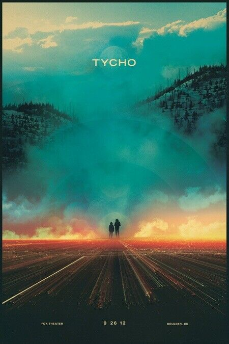 Tycho Poster Framed & Signed Fox Theater 2012 Boulder, CO