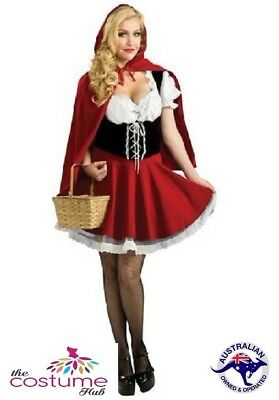Little Red Riding Hood Cape Oktoberfest Fancy Dress FairyTale Costume Size 10-16