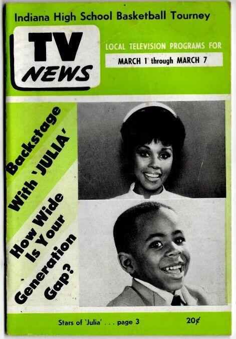 "1969 TV NEWS Magazine • DIAHANN CARROLL in ""JULIA"" • African American Interest"