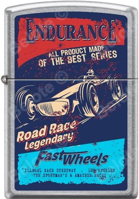 Zippo Endurance Road Race Legendary Fast Wheels Poster Street Chrome Lighter