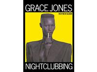 GRACE JONES NIGHTCLUBBING ICONIC POSTER
