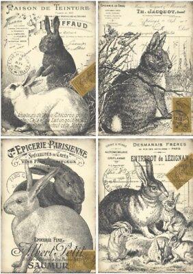 Decoupage-Bastelpapier-Softpapier-Serviettentechnik-Vintage-Ostern-12270