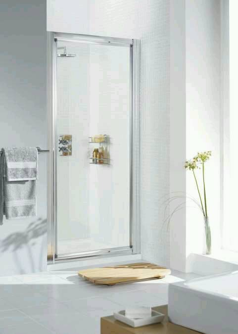 lakes bathrooms 800 pivot shower door (open box, brand new unused. all there no damage)