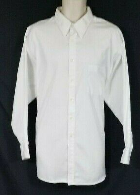 JOSEPH AND FEISS 80'S TWO PLY PINPOINT OXFORD SHIRT.  17 1/2, 32/33.  GUC.  1119 Long Sleeve Two Pocket Oxford Shirt