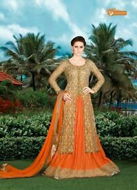 Snow White-3 4910B Indo Western Wedding Wear Salwar Kamiz