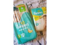 New unopened Pampers size 2 and size 3 nappies