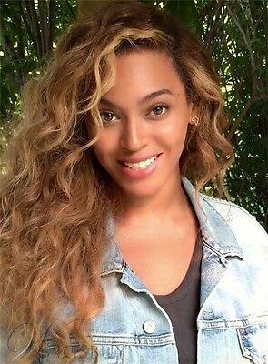Beyonce Long Curly Lace Front Brown Wig 22 Inches
