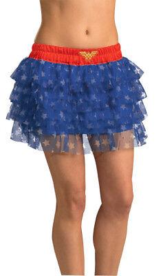 Wonder Woman Teen Rock mit Pailletten Kostümzubehör - Wonder Woman Kostüme Zubehör