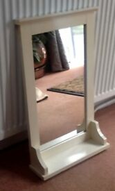 MIRROR COUNTRY CREAM COLOUR COTTAGE STYLE WITH SHELF