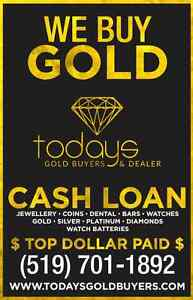 TOP DOLLAR for GOLD and DIAMONDS. CASH LOANS -Todays Gold Buyers London Ontario image 8