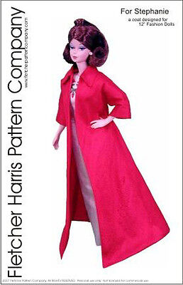 Coat Doll Clothes Sewing Pattern for 12