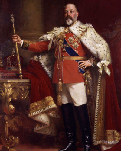 KING EDWARD VII OF THE UK Glossy 8x10 Photo Print Painting Poster