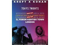 2 standing Krept and Konan concert tickets