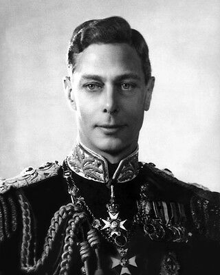 KING GEORGE VI OF THE UNITED KINGDOM Glossy 8x10 Photo Print Military Poster