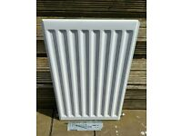 "CENTRAL HEATING WALL RADIATOR WITH 2 BRACKETS AND SCREWS APPROX SIZE 17.5"" (44CM) 27"" (68CM) LONG"